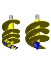 Head for Helicoidal Pipe with Hexagonal Coupling