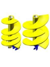 Head for Helicoidal Pipe with Conical Thread Coupling